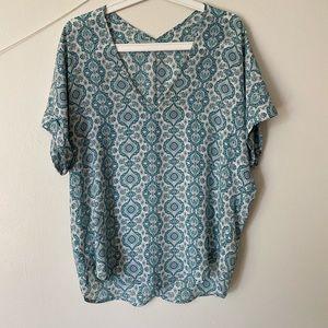 Lush blue short sleeve top
